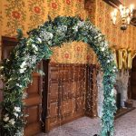 the elvetham hotel wedding archway photo backdrop
