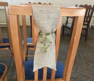 hessian_chair_sash_with_greenery_extremely_lovely_weddings