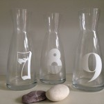 table number vases
